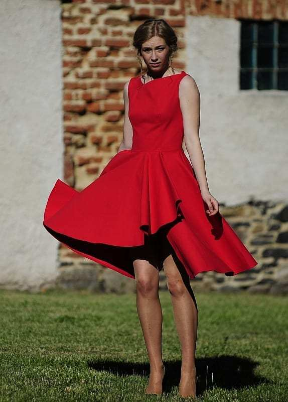 FREE PATTERN - Asymmetrical Party Dress by Papvero and brought to you by www.feedourlife.blog