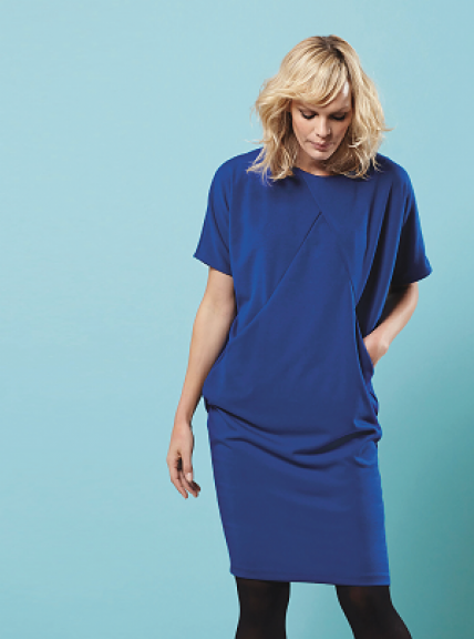 FREE PATTERN - Sewing Bee Draped Dress - by Claire-Louise Hardie and brought to you by www.feedourlife.blog