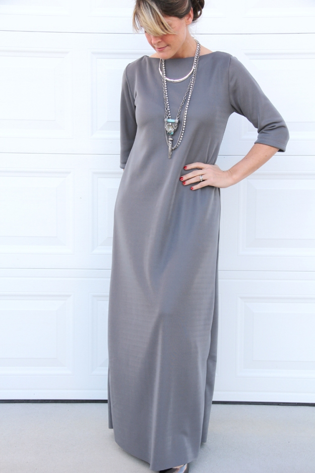 FREE PATTERN - Easy maxi dress by Sewing Rabbit and brought to you by www.feedourlife.blog