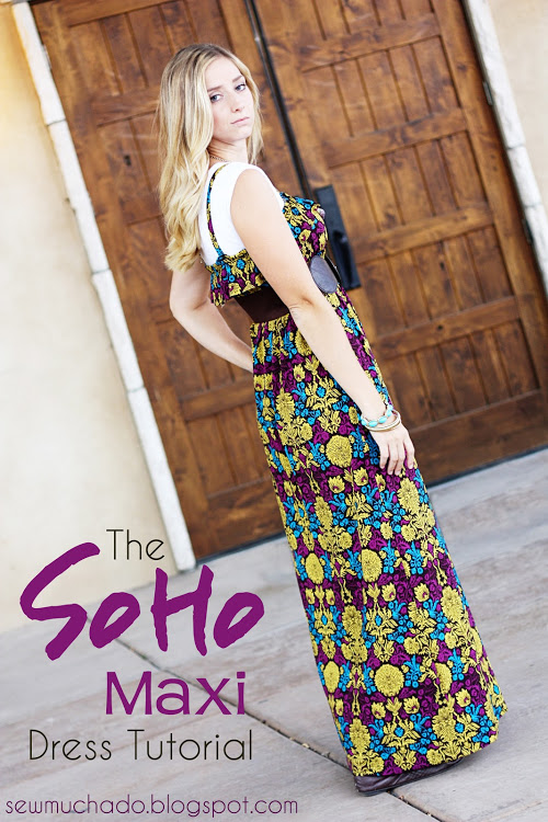 FREE PATTERN - Soho Maxi Dress - by Sew Much Ado and brought to you by www.feedourlife.blog