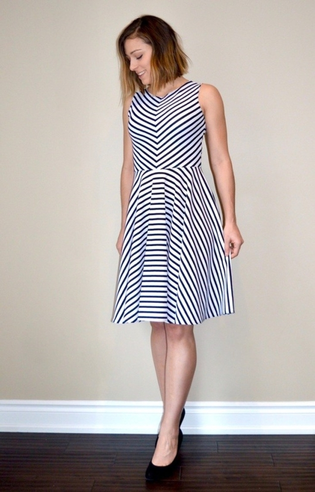FREE PATTERN - Striped dress tutorial and pattern, by the littlest studio and brought to you by www.feedourlife.blog.