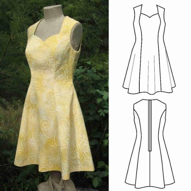FREE PATTERN - Dress for Half-Scale Dress Form - by Grow Your Own Clothes and brought to you by www.feedourlife.blog