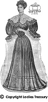 FREE PATTERN - Evening Costume (1907) - by Tudor Links and brought to you by www.feedourlife.blog