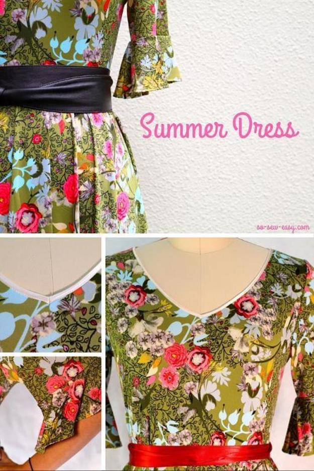 FREE PATTERN - Faviola Summer Dress - by So Sew Easy and brought to you by www.feedourlife.blog