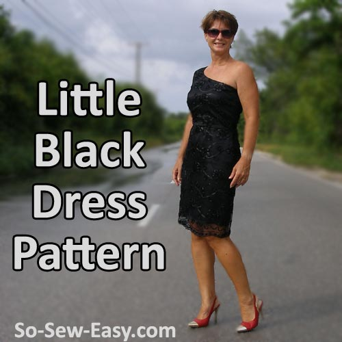 FREE PATTERN - Little Black Dress Pattern by So Sew Easy and brought to you by www.feedourlife.blog