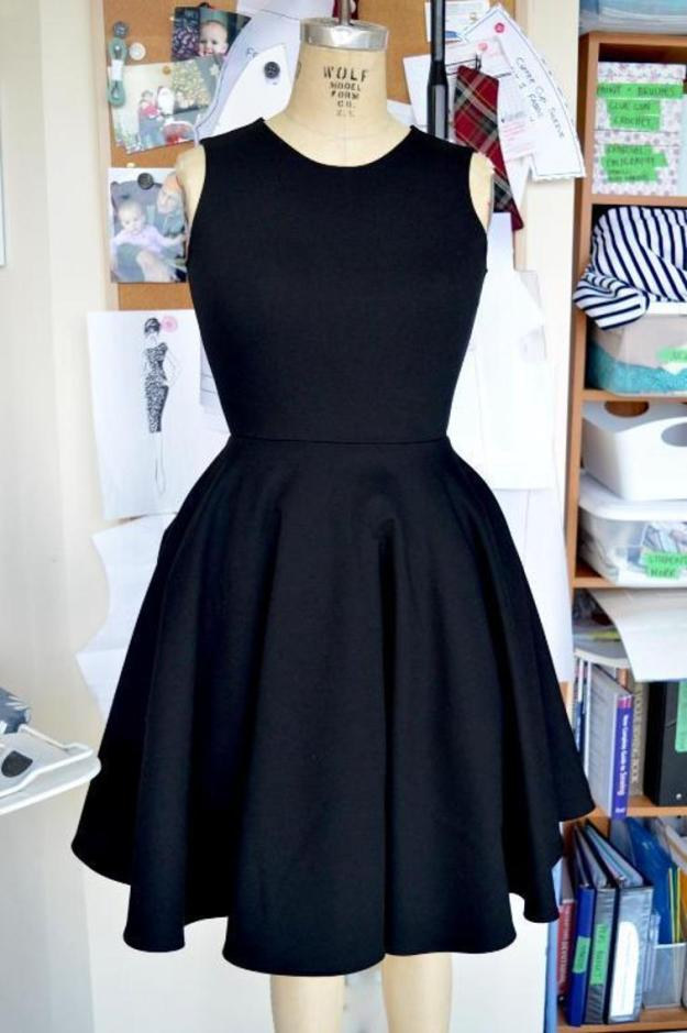 FREE PATTERN - Little Black Dress - by The Littlest Studio and brought to you by www.feedourlife.blog