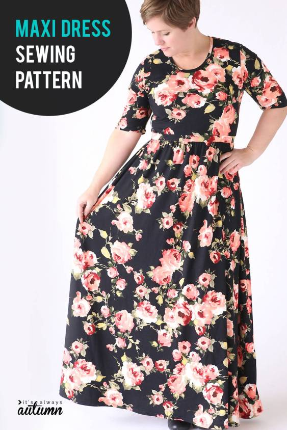 FREE PATTERN - Classic Tee Maxi Dress - by It's Always Autumn and brought to you by www.feedourlife.blog