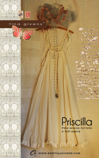 FREE PATTERN - Priscilla Slip Dress - by Tina Givens and brought to you by www.feedourlife.blog