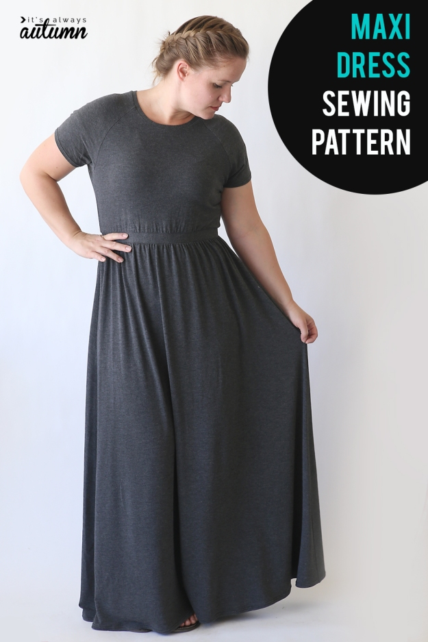 FREE PATTERN - Raglan Maxi Dress by It's Always Autumn and brought to you by www.feedourlife.blog