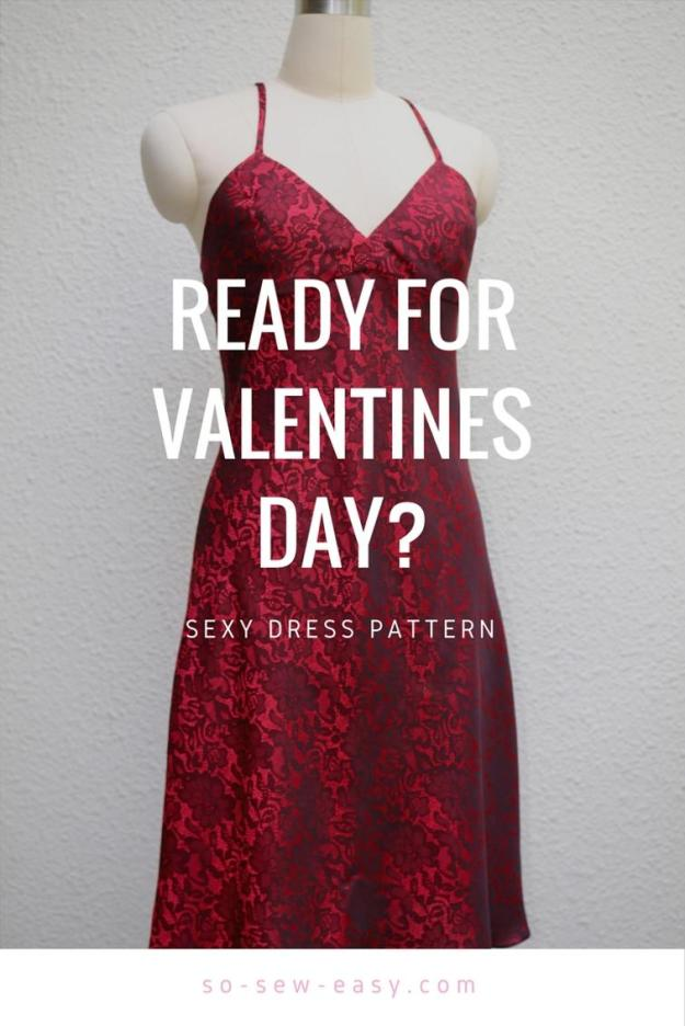 FREE PATTERN - Sexy Dress Pattern - by So Sew Easy and brought to you by www.feedourlife.blog