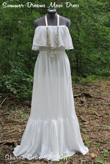 FREE PATTERN - Romantic Strapless Maxi Dress - by Sharon Sews and brought to you by www.feedourlife.blog