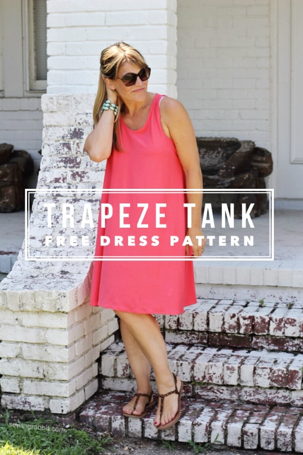 FREE PATTERN - Trapeze Tank Dress - by Sewing Rabbit an brought to you by www.feedourlife.blog