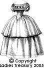 FREE PATTERN - Ladies Tudor Ball Dress (1857) - by Tudor Links and brought to you by www.feedourlife.blog