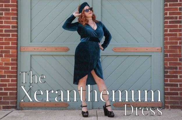 FREE PATTERN - Xeranthemum Dress - by Mood Sewciety and brought to you by www.feedourlife.blog